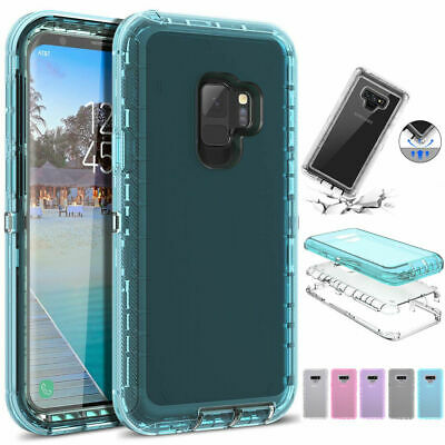 Clear 360° Phone Case Cover For Samsung Galaxy Note 10 9 8 S7S8S9 S10 SHOCKPROOF