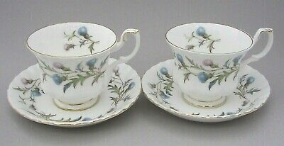 Royal Albert - Brigadoon - Two Tea Cups And Saucers