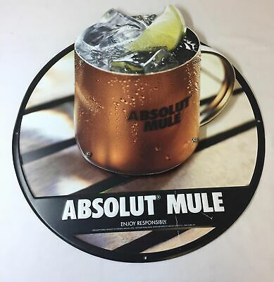 2014 two level metal tin sign ~ ABSOLUT MULE VODKA