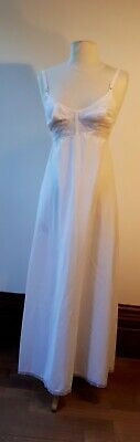 "1960s Ladies ""St. Michael/ M&S"" Long White Nylon Petticoat. UK10. Costume Grade"
