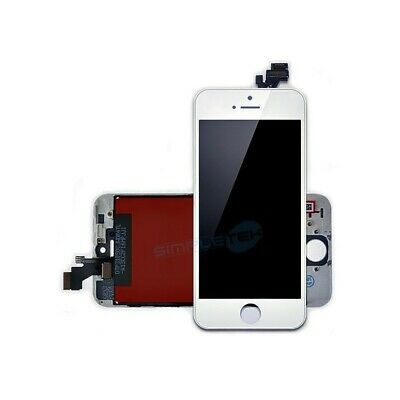 DISPLAY SCHERMO IPHONE 5s BIANCO PER APPLE TOUCH SCREEN LCD VETRO FRAME 5s