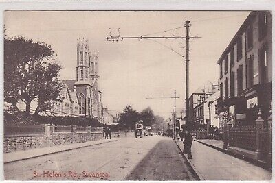 h wales welsh old antique  postcard collecting st helens road swansea