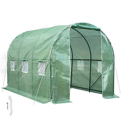 Greenhouse polytunnel poly tunnel steel frame PE foil tomato house garden plant