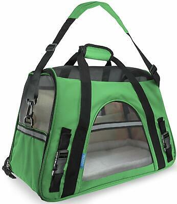"""Pet Carrier Soft Sided Dog / Cat Comfort """"FAA Airline Approved"""" Travel Tote Bag"""