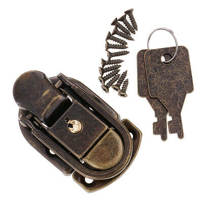 Zinc Alloy Chinese Classic Vintage Padlock Lock with Keys Screws Collectible
