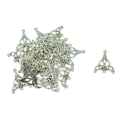 30pcs Tibetan Silver Triangle Celtic Knot Earring Pendant Connector DIY