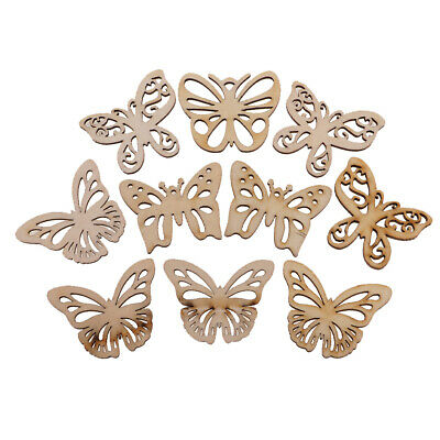 20x DIY Wooden Butterfly Wedding Hanging Decorations Ornaments Wood Pieces