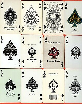 12 Single Swap Playing Cards ACE OF SPADES NICE VARIETY A COUPLE VINTAGE
