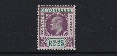 Seychelles SG56 2r25 purple & green - mint hinged £50