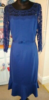 Jacques Vert Navy Lace Dress Size 18 Mother Of The Bride