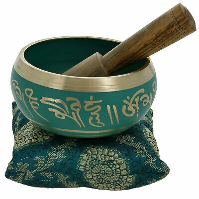 4 Inches Hand Painted Metal Tibetan Buddhist Singing Bowl Musical Instrument ...