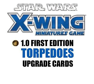 Star Wars X-Wing 1.0 Miniatures Game - Torpedoes Munitions Single Upgrade Cards