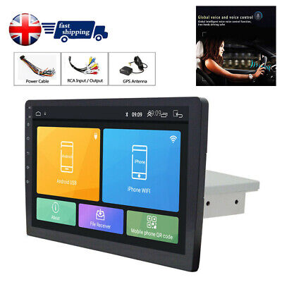 "10.1"" Single 1Din Android 8.1 Car Stereo Radio GPS WiFi BT DAB Mirror Link OBD"