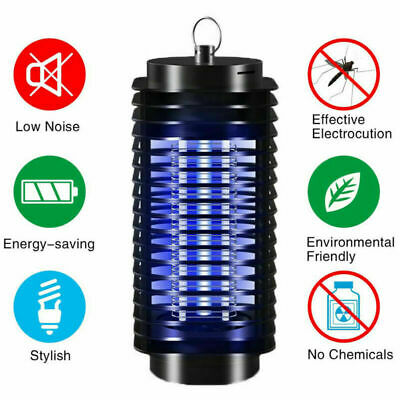 Electric Insect Fly Mosquito Killer Lamp UV Bug Zapper Pest Control UK Plug