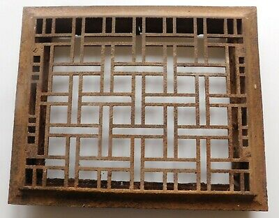 Antique/Vintage Cast Iron FLOOR Register Heat Vent Grate 17 by 14 Inches