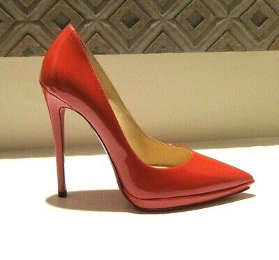 huge selection of adc5f ab2fd NEW CHRISTIAN LOUBOUTIN Shoes Pigalle Plato 120 Red Pumps Heels 38 Us 8