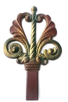 Vintage ART NOUVEAU ~ ART DECO ERA Cast Iron FINIAL - JUDD