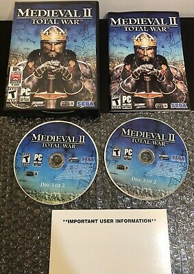 MEDIEVAL II: TOTAL War (PC, 2006) SEGA - Complete - Tested for