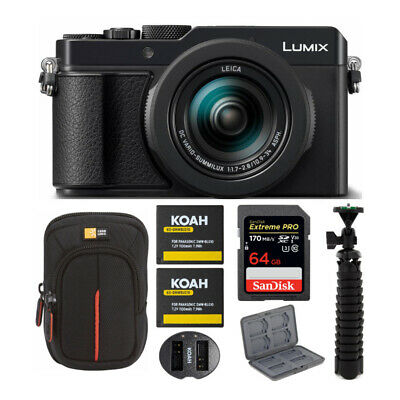Panasonic Lumix LX100 II Large Four Thirds 21.7 MP with Accessory Bundle