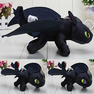 How to Train Your Dragon Toothless Night Fury Stuffed Plush Soft Toys Gifts 25CM