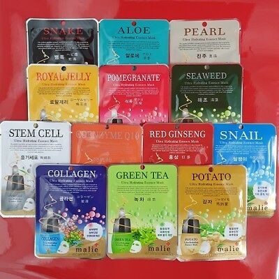 5 Random Set Face Mask Skin Care Ultra Hydrating Beauty Essence Moisture NJ na4