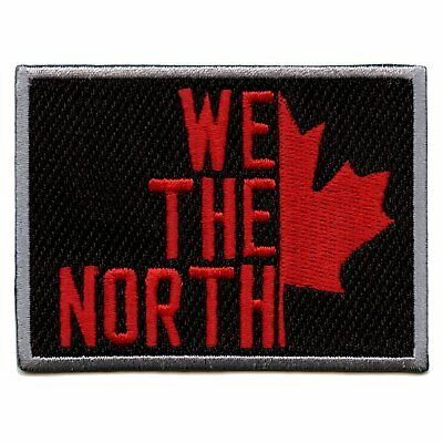 We The North Toronto Canada Pride Maple Leaf Basketball Parody Iron On Patch