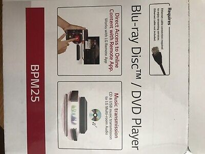 LG BPM25 BLU-RAY Disc Player w/ Streaming Services, New Open