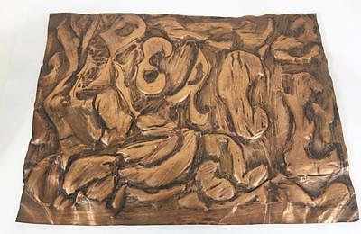 Copper Hand Crafted Vtg Sheet Art PEACE Mid Century Modern Hippie Wall MCM Retro