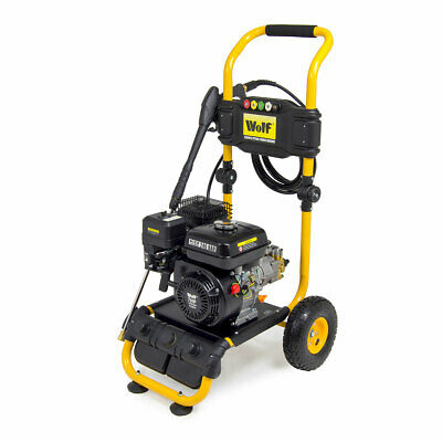 Petrol Pressure Washer 3500psi 240bar 7HP Petrol Driven Jet Power Washer Wolf