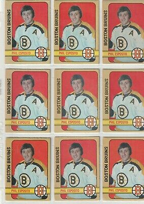 14 Card Phil Esposito 1972-73 Opc Lot Varying Condition Card #111 See Pics