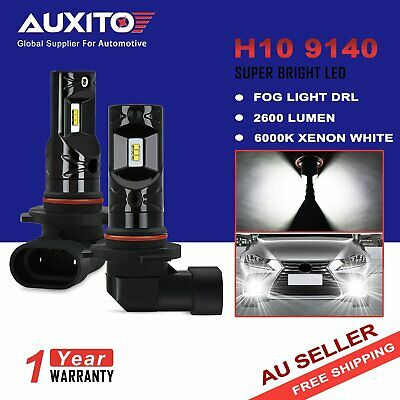 2x AUXITO H10 9140 9145 CSP LED Fog Light DRL Replace Halogen Lamp Globes 6000K