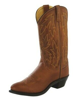 27a488ba0ce WOMENS SIZE 5~OLD WEST Leather Brown Tan TURQUOISE Western COWBOY ...