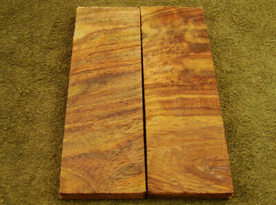 "5"" Pair of Burl Rose Wood Scales Knife Handle Making Blank Bush Crafts 600-215"