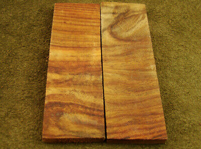 "5"" Pair of Burl Rose Wood Scales Knife Handle Making Blank Bush Crafts 600-212"