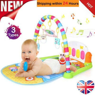 Baby Gym Activity Floor Playmats 4 in 1 Fitness Music Fun Piano Educational Toys
