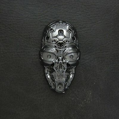 Silver Skull USB Rechargeable Electric Lighter Windproof for Terminator T800