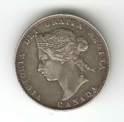 Canada 1872 25 Cents Silver Coin Auction Starts £1 Lovely Condition