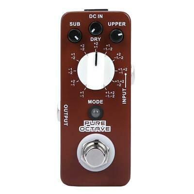 Mooer Micro Series Pure Octave Polyphonic Octave Guitar Effect Pedal True Bypass