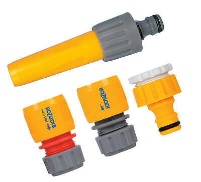 Hose Pipe Connector Set Water Watering Garden Fitting Spray Hoselock Outdoor Tap