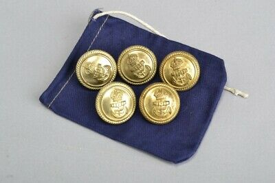 Royal Navy Officers' WW2 Era Buttons in Wartime Dated Pouch.  Ref LWW