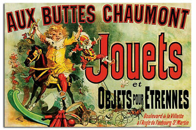 Aux Buttes Chaumont Jouets As Seen On Friends Poster New - Laminated Available