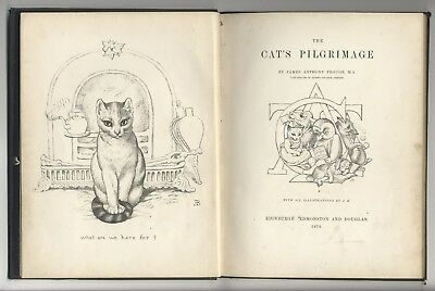 LOT 3 books about CATS kitten: THE CAT'S PILGRIMAGE + THE SOUL OF CAT + CAT 1870