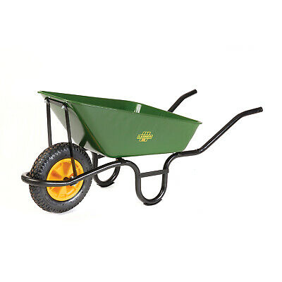 Lasher Builders Construction Building Black Frame & Pneumatic Wheel Wheelbarrow