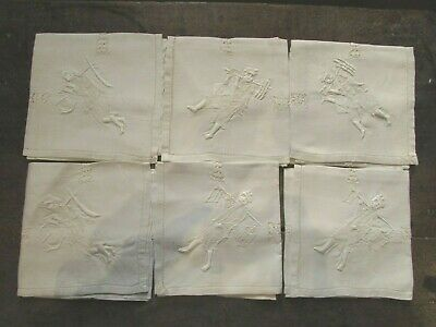 6 anciennes serviettes chinese antique fabric brodé broderie embroiderie chinois