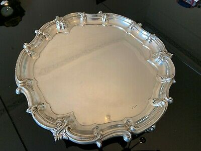 2kg solid silver tray 20 inches wide mappin & webb sheffield 1915