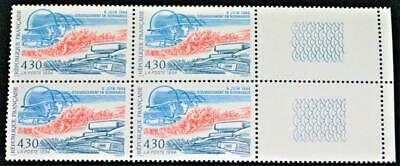 BLOCK OF (4) 4.30 FRANC FRENCH POSTAL STAMPS 1994 50th ANNIVERSARY OF D DAY WWII