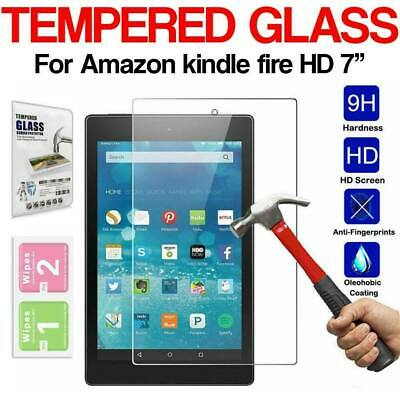 """Genuine Tempered Glass Screen Protector For AMAZON KINDLE FIRE 7"""" inch 2017"""