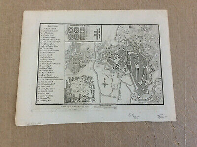 Plan of the City of Hannover Kupferstich  Stockdale 1800 597