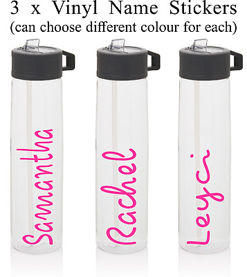 3 x Love Island personalised name/text water bottle sticker/decal(stickers only)