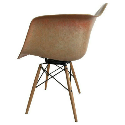 "Charles Eames ""PAW Chair"" Swivel Fiberglass Shell Dowel Leg Birch"